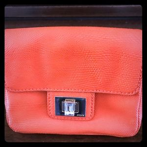 Juicy Couture purse /orange color/golden chain/